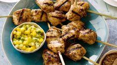 Jerk chicken kabobs