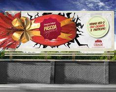 Outdoor criado para a campanha de Páscoa do Shopping Cidade.