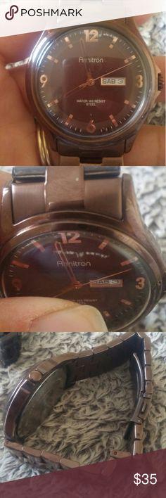 Mens watch One scratch needs battery armitron Accessories Watches