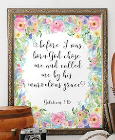 Bible verse wall art Scripture art Scripture by TwoBrushesDesigns