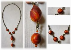 Polymer clay necklace  https://www.facebook.com/Anna-Donna-%C3%A9kszer-231340573715505/