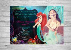 Ariel Birthday Invitation The Little Mermaid by TwoAngelsDesigns