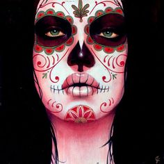Dia de los muertos face for Halloween