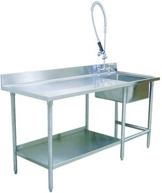 Dog Kennel Prep Table -- need some sort of utility sink.