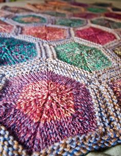 hexagon blanket.