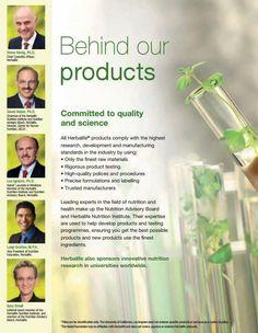 Dietro hai prodotti herbalife ci sono scienziati di fama mondiale.
