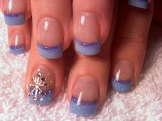 As symbols of the winter season, snowflake nail art are wonderful now and can instantly make a regular manicure look like a work of art. Take a look at these Cool Snowflake Nail Art Designs for inspiration. Snow Nails, Xmas Nails, Holiday Nails, Winter Nails, Christmas Nails, Winter Christmas, Christmas Snowflakes, Christmas Time, French Christmas