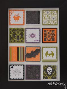 'Cast a Spell' Framed Art handmade by Sue Wdowik - Independent Stampin' Up! Demonstrator. www.nighnighbirdie.blogspot.com