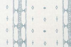 "Penny Morrison's ""Indira Stripe"" fabric in blue"
