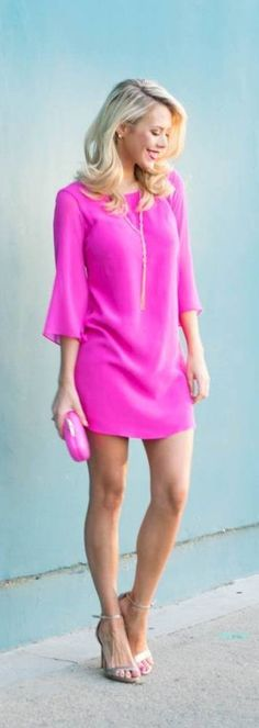 Pink silk valentine dress