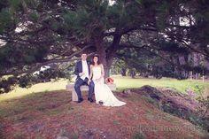 Newlyweds at Studland Bay House Wedding. Photography by one thousand words wedding photographers