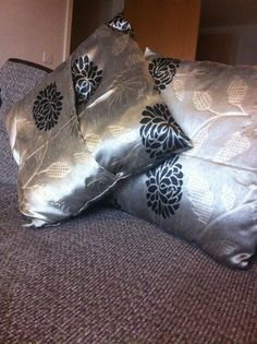 Cushion covers made from curtains
