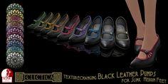 Eclectica Black Leather Pumps vendor   Flickr - Photo Sharing!