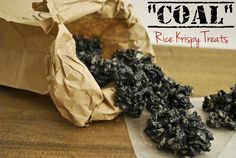 Coal Rice Krispy Treats