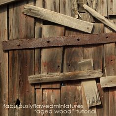 Fabulously Flawed Miniatures: Tutorial: How to Age Wood…Restoration Hardwood Sty...