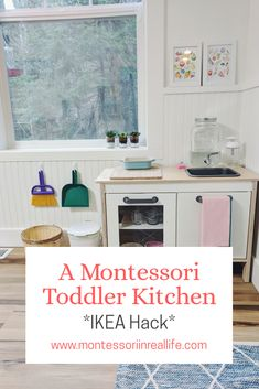 A Functional Montessori Toddler Kitchen A Functional Toddler Kitchen www.montessoriinr The post A Functional Montessori Toddler Kitchen appeared first on Babyzimmer ideen. Ikea Montessori, Montessori Toddler Rooms, Montessori Bedroom, Montessori Activities, Ikea Toddler Room, Learning Activities, Montessori Homeschool, Preschool Curriculum, Maria Montessori
