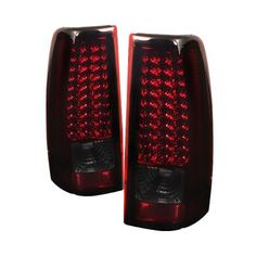 Chevy Silverado 2003-2006 Red and Smoked LED Tail Lights