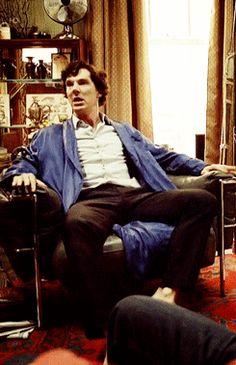 He really needs a case ~ Sherlock .gif
