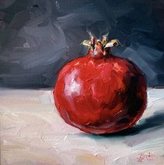 Original Still Life Painting by Catherine Braiko Fine Art Art on Paper Pomegranate Still Life Pencil Shading, Still Life Drawing, Still Life Oil Painting, Pomegranate Art, Fruit Painting, Oil Painting On Paper, Painting Flowers, Painting Art, Still Life Artists