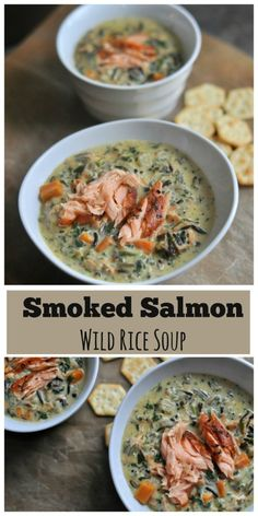 creamy soup recipe filled with flavors of coriander, smoked salmon ...