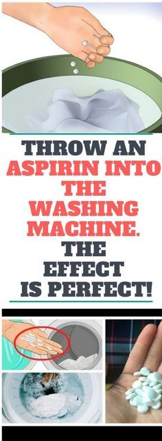 Throw An Aspirin Into The Washing Machine! The Reason Will Leave You Speechless!!!
