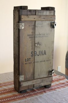 Kitchen Storage Reclaimed Military Wood Cabinet Furniture RESERVED for Matthew Connors. $200.00, via Etsy.