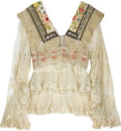6b7ec00c3d2fb One Vintage Victorian lace blouse - ShopStyle Tops