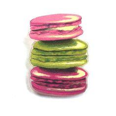 Laduree Macaron pastry pin by NGIllustration on Etsy
