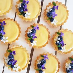 Mini custard tarts ready for a baby shower Lemon Tarte, Custard Tart, Cake Boss, Dessert Table, Wedding Season, Panna Cotta, Pudding, Baby Shower, Treats