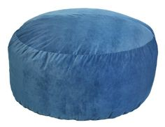 5-Feet comfort cloud foam filled bean bag is super soft, comfortable and will last for years to come. Blue faux suede cover features easy spot clean maintenance. Designed to individually conform to each person and provides the ultimate in comfort and relaxation. Suitable for all ages. The 5-feet comfort cloud bean bag can accommodate more than one person when lying flat; rotated 90 degrees, it acts like a large comfy-chair...