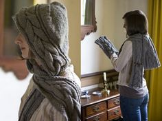 Knitted Hooded Scarf Free Pattern