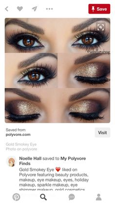 Eye makeup is a fundamental element of make-up, which is remarkably under-rated. Smokey eye makeup has to be accomplished accurately to be able to make you look stunning. A complete smokey eye make… Makeup Goals, Makeup Inspo, Makeup Inspiration, Makeup Trends, Makeup Sets, Style Inspiration, Beauty Make-up, Beauty Hacks, Beauty Women