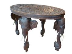 Bombay Elephant Table  | The Outpost  #antiques #interiors #design #home #interiordesign #midcentury #modern #handcrafted #handmade #vintage