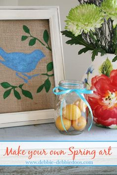 How to make your own Spring stenciled art in 5 minutes