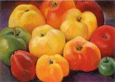 Apple Family 1, by Georgia O'Keeffe, 1920. 90 x 65 cm