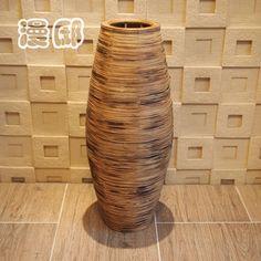 2014 grátis frete 61 cm moda vintage piso de carvão de bambu banheira vaso olivar artesanal flores secas flores em Vasos de Casa & jardim no AliExpress.com | Alibaba Group