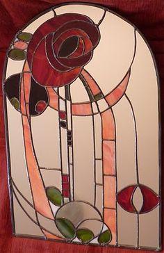 Mackintosh Style Mirror  Vagabundus: stained glass