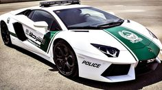 A half a million-dollar Aventador and nearly-as-costly $300,000 Ferrari are branded with Dubai Police's green and white colourings and ready to patrol the local streets as the Dubai Police chief just announced the vehicles as additions to the police fleet.   http://www.carcritics.ca/2013/04/not-just-supercar-its-super-police-car.html