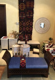 Moroccan Bench Custom Upholstered comes in two sizes to suit your home decor. Availabe in several fabric choices too at Desert Designs Custom Made Furniture, Furniture Making, Furniture Design, Desert Design, Moroccan, Bench, Fabric, Home Decor, Tejido