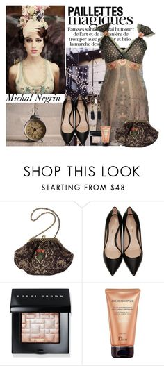 """""""Michal Negrin"""" by polybaby ❤ liked on Polyvore featuring Michal Negrin, Nicholas Kirkwood, Bobbi Brown Cosmetics and Christian Dior"""