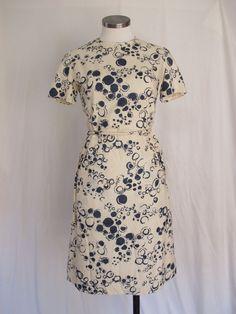Vintage Silk Dress Chic Summer Dress Handmade Short by SoSylvie