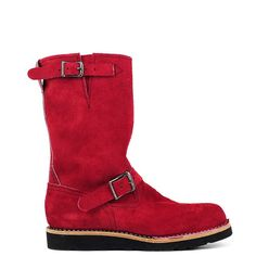 Custom Wesco Boss #TheBooteryEU #wesco #boss #boots #red #roughout #leather #madeinusa