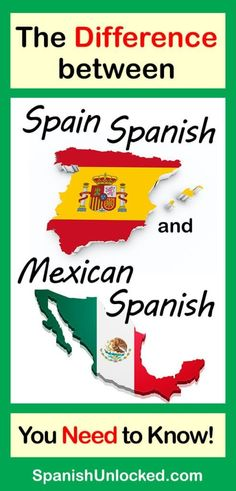 Check out the differences between Spain Spanish and Mexican Spanish in vocabulary, pronunciation, and grammar and improve your Spanish listening and comprehension skills. Let's learn to speak Spanish fluently! Spanish Sentences, Spanish Phrases, Spanish Vocabulary, Spanish Words, Spanish Language Learning, Learn A New Language, Spanish Lessons, Teaching Spanish, French Lessons