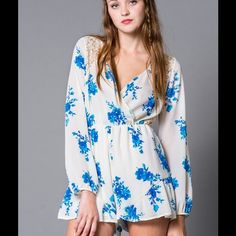 "Selling this ""Floral Boho Crochet Lace Back Romper S M L"" in my Poshmark closet! My username is: scoulon. #shopmycloset #poshmark #fashion #shopping #style #forsale #Miin #Dresses & Skirts"