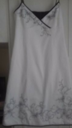 3ad875ab48 Principles White dress with black embroidery decoration and binding size 12   fashion  clothing