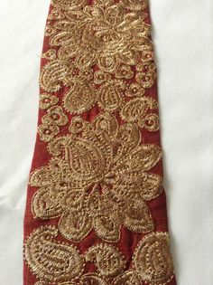 Fancy Embroidered Indian Lace Trim Ethnic Ribbon Craft Sari Border 1 Meter