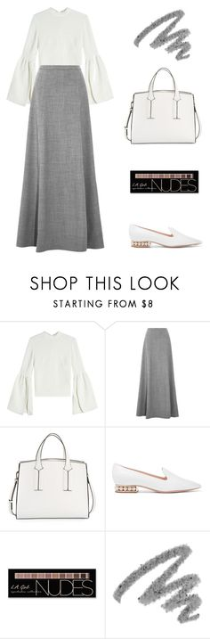 """""""50 Shades Darker"""" by manhattan-princess ❤ liked on Polyvore featuring Rejina Pyo, J.Crew, French Connection, Nicholas Kirkwood, Charlotte Russe and Yves Saint Laurent"""
