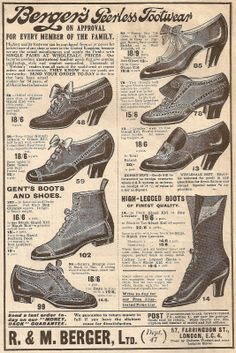 Archive: Berger's Peerless Footwear