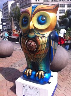 Tick Tock Owl in Victoria Square Birmingham raised 10,000 pounds at the auction