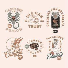 Typography Logo, Art Logo, Logo Branding, Branding Design, Logo Design, Badges, Motor Logo, Hipster Logo, Green Sky